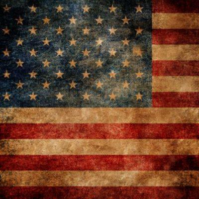 Click Props Achtergrond Vinyl met Print American Flag 1