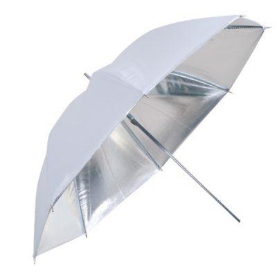 Falcon Eyes Flitsparaplu UR-32S Zilver/Wit 80 cm